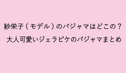 紗栄子(モデル)がYoutubeで紹介したパジャマはどこの?ジェラピケのオシャレなルームウェアまとめ