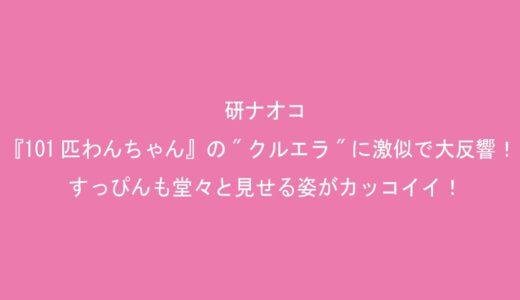 """研ナオコが『101匹わんちゃん』の""""クルエラ""""になりきり、激似で大反響!すっぴんも堂々と見せる姿がカッコイイ!"""