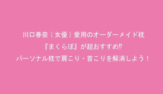 川口春奈(女優)愛用のオーダーメイド枕・『まくらぼ』が超おすすめ⁉パーソナル枕で肩こり・首こりを解消しよう!