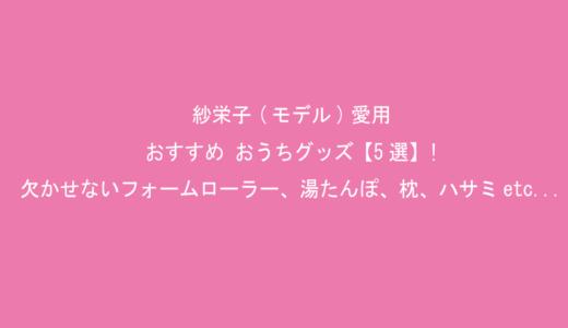 紗栄子(モデル)愛用・おすすめ おうちグッズ【5選】!リラックスに欠かせないフォームローラー、湯たんぽ、枕、ハサミetc...