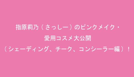 指原莉乃(さっしー)のピンクメイク・愛用コスメ大公開(シェーディング、チーク、コンシーラー編)!